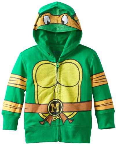 [Nickelodeon Toddler Boys' Teenage Mutant Ninja Turtles Characters Hoodies, Green, 3T] (Nickelodeon Teenage Mutant Ninja Turtles)