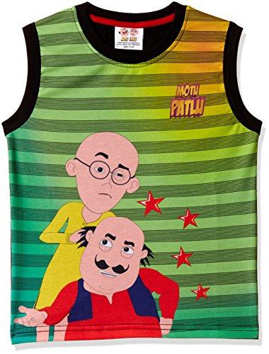 Motu Patlu Boys' T-Shirt (SLS-2123_Green_2-3Years)
