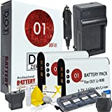 DOT-01 2x Brand Olympus Tough TG-5 Batteries and Charger for Olympus TG-5 Waterproof Camera and Olympus TG5 Accessory Bundle for Olympus LI92B LI-92B