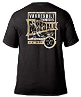 NCAA Vanderbilt Commodores Vintage Baseball Flag Short Sleeve Comfort Color T-Shirt, XX-Large,Black