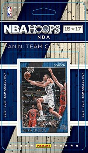 Orlando Magic 2016 2017 Hoops Basketball Factory Sealed 10 Card Team Set with Jeff Green and Mario Hezonja Plus - Jeff Gordon Set