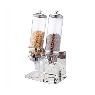 ITOPKITCHEN itopk Itchen 4L * 2trockenfutter dispensador de Acero Inoxidable Base Dos Depósitos Cereales Bean Dispenser–Recipiente Hermético presupuesto Accesorio de Cocina