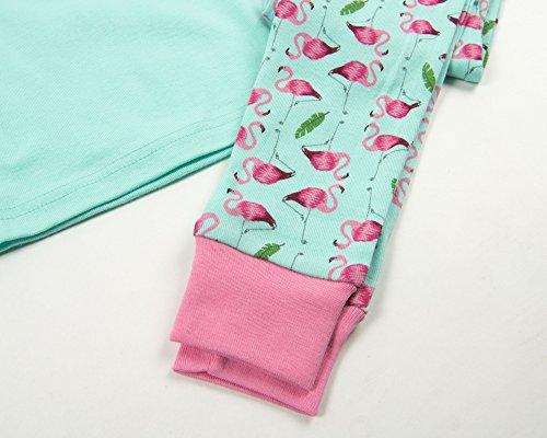 Leveret Matching Doll & Girl Flamingo 2 Piece Pajama Set 100% Cotton Size 10 Years by Leveret (Image #2)