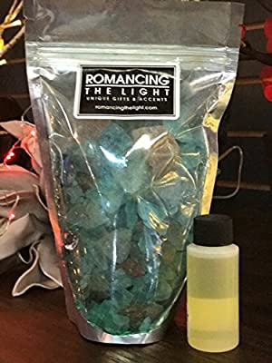 Romancing The Light Himalayan Organic Salt Crystal Potpourri COCONUT BLUE HAWAII, 1lb with Refresher Oil