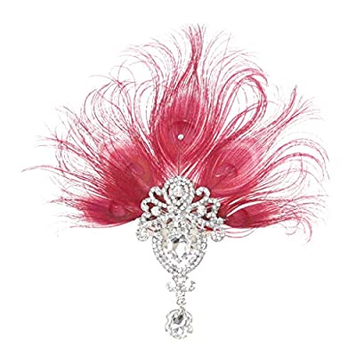 1920s Gatsby Peacock Headband Fascinator Wedding Headpiece Party Supplies