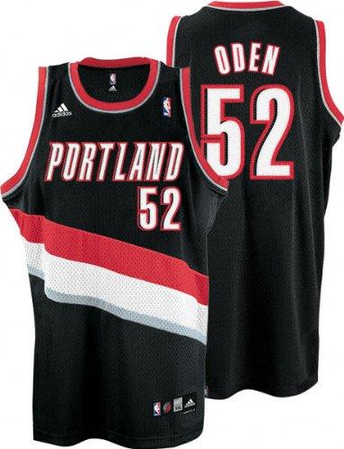 Adidas NBA Portland Trail Blazers  52 Greg Oden Black Jersey 9b3175b5c