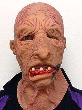 ANTIGUO Hombre Abuelo Zombie Halloween Terror Máscara Terror Abuelo Completo de látex