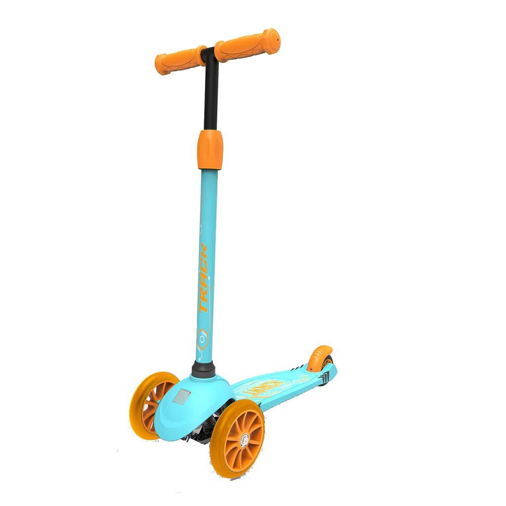 スケートボード スクーター子供スクータースクータースクータースクータースクーター スケートボード (Color : 青) 青
