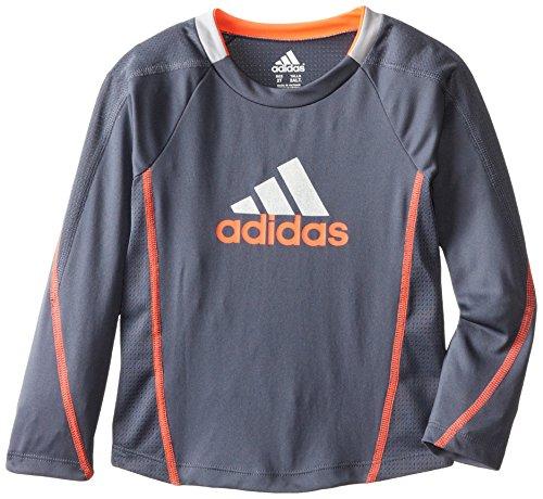 Adidas Little Boys' Soccer Tech Top, Dark Grey, 7