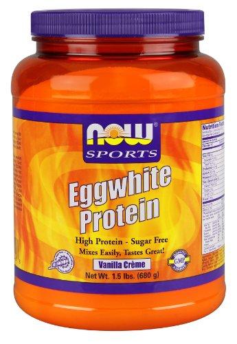 Now Foods Eggwhite protéines, Vanilla Creme, 1,5 Pound