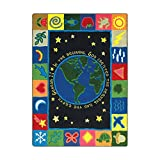 Joy Carpets Kid Essentials Inspirational In The Beginning Area Rug, Multicolored, 5'4'' x 7'8''