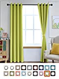 bright green thermal curtains - Yakamok Light Blocking Darkening Thermal Insulated Blackout Curtains Solid Grommet Top Window Draperies/Drapes/panels for Bedroom/Living Room 2 Panels (52Wx96L, Lime)
