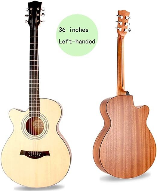 YJFENG Zurdo Guitarra Acústica,Cuerda De Acero Pequeño Volumen ...