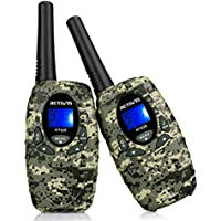 Retevis RT628 Camouflage Kids Walkie Talkies Outdoor Toy for Kids 0.5W License-free FRS 22CH 2 Way Radio for Kids(1 Pair)