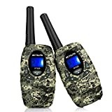 Retevis RT628 VOX UHF Portable 22 Channel FRS Kids Walkie Talkies (Camouflage,2 Pack)