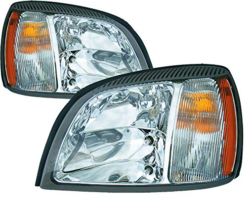 For Cadillac Deville Headlight 2004 2005 Driver and Passenger Side Headlamp Assembly Replacement