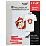 25 Sheets Koala Iron-On Light T Shirt Transfer Paper 8.5x11 inch Compatible