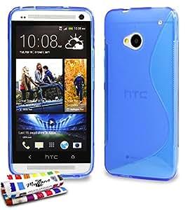 """Carcasa flexible Ultra-Slim """"Le S"""" Premium Azul para HTC ONE / M7 de Alta Calidad ORIGINAL de MUZZANO - Protección contra los golpes ELEGANTE, OPTIMA con un cuidado diseño + 1 estilete + 1 paño MUZZANO regalados"""