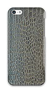 Simply Case Designs Gray Crocodile Skin Texture Design PC Material Hard Case for iphone 5C