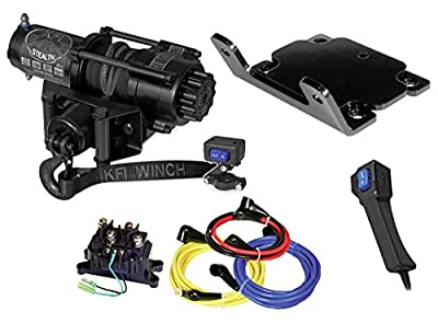 KFI Combo Kit - SE35 3500 lb Stealth Winch & Winch Mount - 2007-2014 Yamaha Grizzly 350 / 400 /450