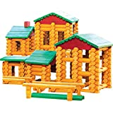 build a toy log cabin - Smart Builder Master Cabin Log Set, Includes 400 Pieces of Interlocking Wood Logs