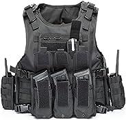 Visit the vAv YAKEDA Store vAv YAKEDA Tactical Vest Military Chest Rig Airsoft Swat Vest for Men