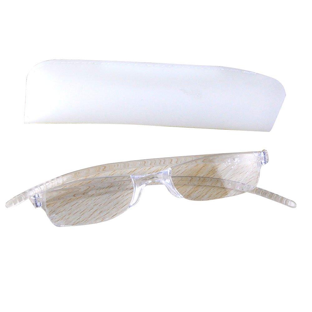 THG reg; Readers Reading Glasses Transparent Frame Clear Lenses