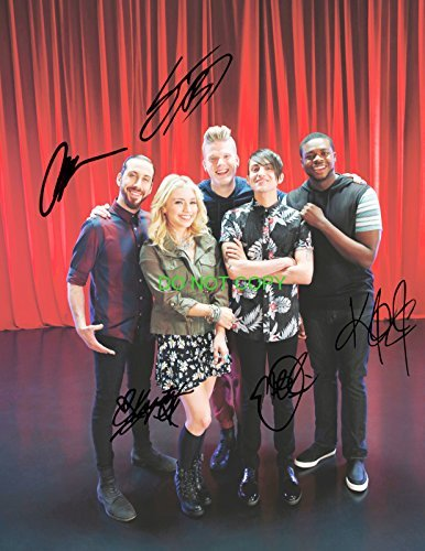 (Pentatonix a cappella group reprint signed autographed 11x14 poster photo by all 5#2)