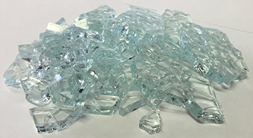 2 Lbs. Broken Tempered Glass for Craft and Art Projects - Clear, 1/4