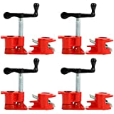"Yaetek (4 Pack) 3/4"" Wood Gluing Pipe Clamp Set Heavy Duty PRO Woodworking Cast Iron"