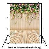 Allen Vision 6ft x 8ft Thin vinyl Photography backdrops Studio Senior Backgrounds Digital print flowers and wood Backdrop