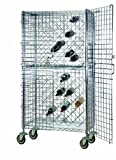 18'' Deep x 36'' Wide x 69'' High Mobile Chrome Wine and Liquor Security Cage