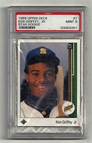 Ken Griffey Jr. PSA Graded Rookie Card MInt 9 - 1989 Upper Deck Baseball Card #1 (Seattle Mariners) Free Shipping & Tracking (1989 Upper Deck Ken Griffey Jr Rookie Card)