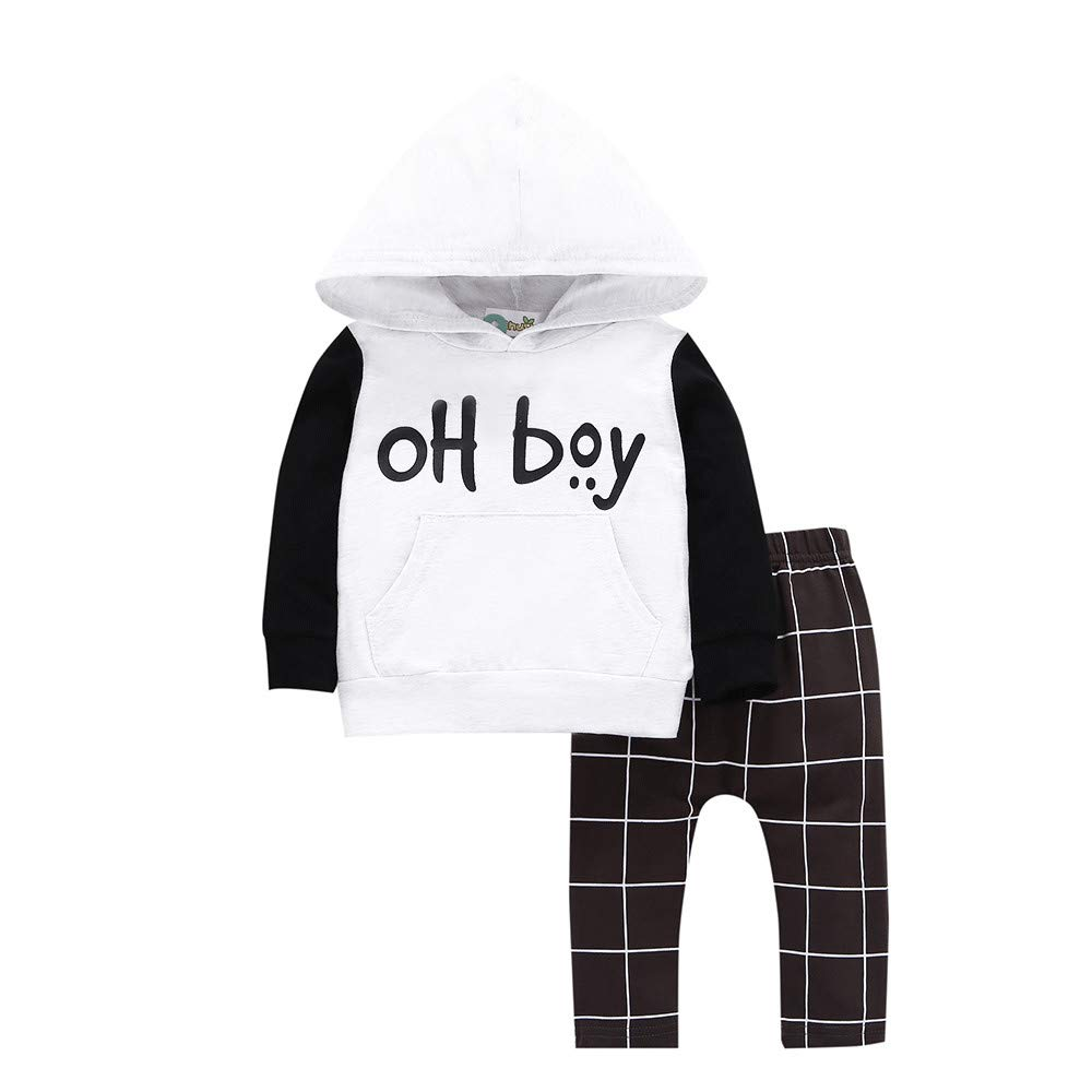 Sameno Baby Christmas Layette Set,Toddler Infant Baby Girl Boy Hooded Sweatshirt Tops Pants Winter Outfits Clothes Set