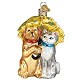 Old World Christmas Glass Blown Ornament Raining Cats & Dogs (12501)