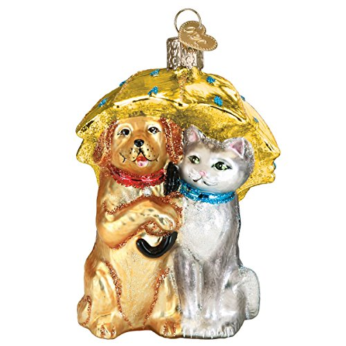Old World Christmas Glass Blown Ornament Raining Cats & Dogs (12501) ()