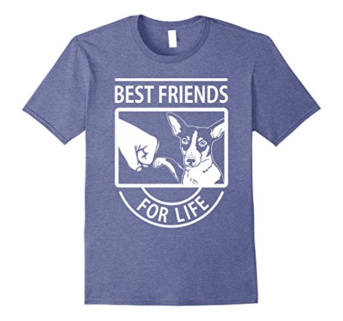 Mens Rat Terrier - Best Friends For Life T-shirt 3XL Heather Blue
