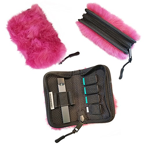 Carrying Case Wallet Holder for JUUL and Other Popular Vapes | Holds Vape, Pods and Charger | Fits in Pockets or Bags (Device Not Included) (Pink Pods)