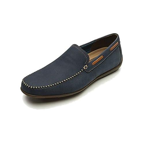 Flexi Shoes Mocasines de Piel Para Hombre Azul Azul 40 EU, Color Azul, Talla 41: Amazon.es: Zapatos y complementos