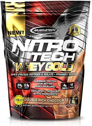 Muscletech Performance Series Nitro Tech 100% Whey Gold Double Rich Chocolate - 462 gr