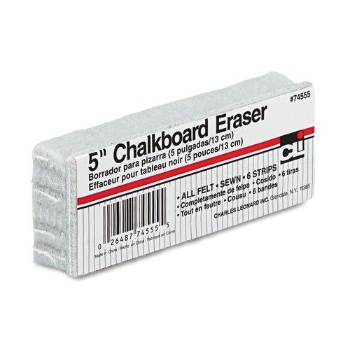 Charles Leonard - 5-Inch Chalkboard Eraser, Wool Felt, 5w x 2d x 1h 74555 (DMi EA