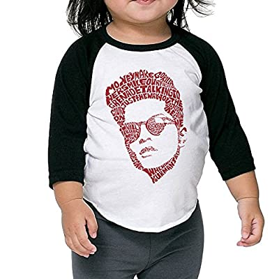 Bruno Mars Typography Lyrics Child Unisex Raglan Shirt Funny Baseball Jersey 3/4 Sleeve