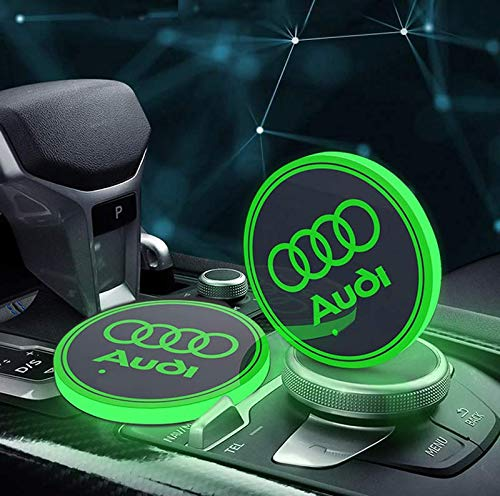 Audi LED Cup Holder Mat Pad Coasters
