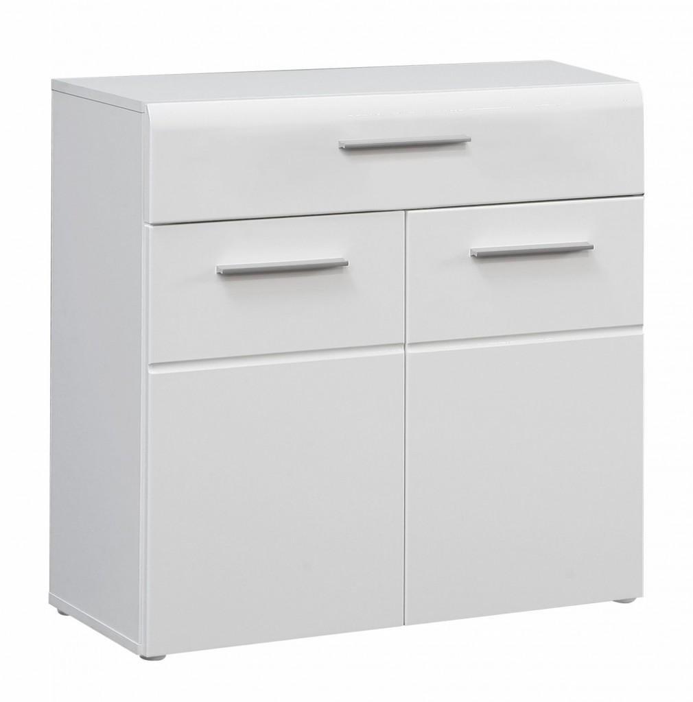 Kommode Slate 2 Türen Türen 2 1 Schublade Front Weiß Hochglanz Von