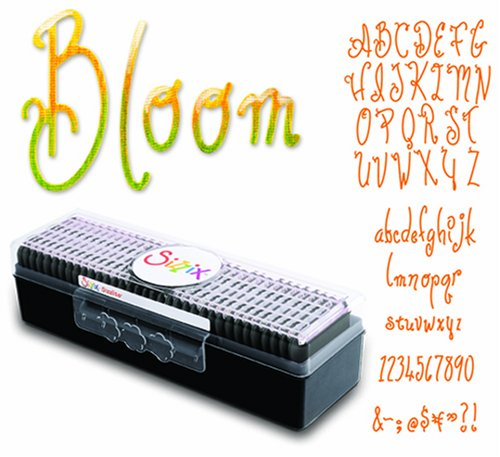 Sizzix 654375 Sizzlits Alphabet Set of 35 Dies - Bloom by Stu Kilgour (Sizzlit Alphabet Set)