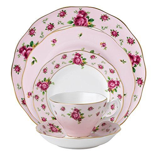 Royal Albert New Country Roses Pink 5-Piece Place ()