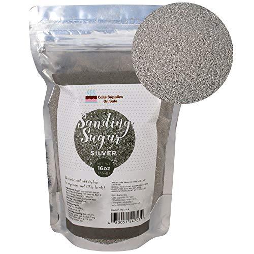Sanding Sugar Silver 16 Oz -