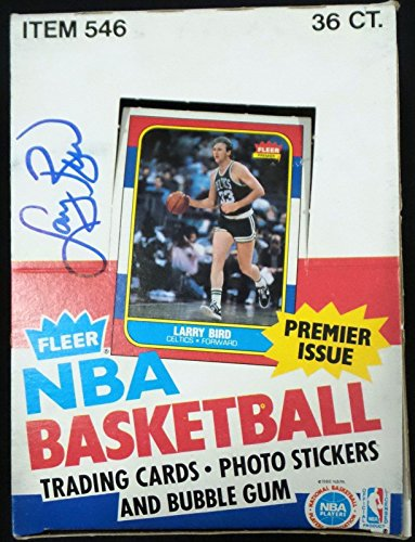 - Larry Bird Signed Autographed 1986 Fleer Box Rare Authenticated #2 - JSA Certified - Basketball Autographed Cards
