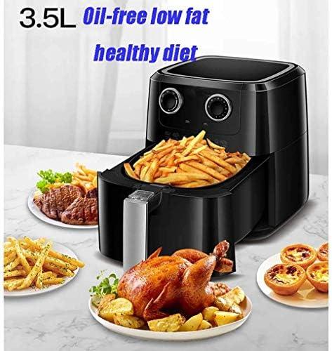 Air Fryer sans huile, facile à nettoyer avec séparé panier Fried, 3.5L, 1400W, Timed contrôle de température, 8 panneaux de menu, sans huile et graisse de réduction, Noir xuwuhz