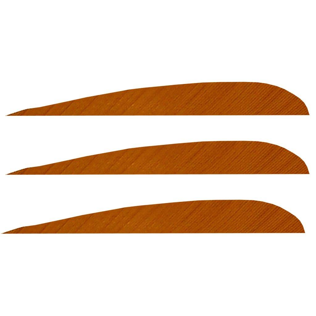 Trueflight Feathers 4 inch Orange RB RW (50 Pack)